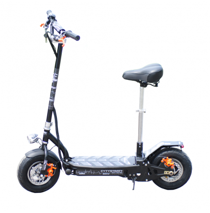 Grand-Scooter CityStreet 1500W / 48V / 9aH / Noir Lithium