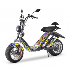 Scooter Eléctrica E-Thor Matriculable 2000W/20AH Hip-Hop