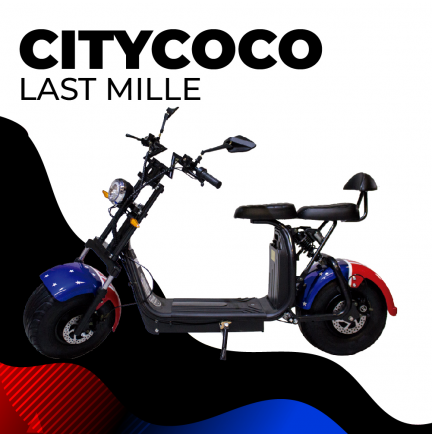 CityCoco (8) 2000W / 18.2aH (Double Battery) Drapeau Américain / Noir (Version XI)